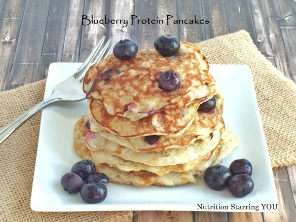 Blueberry Protein Pancakes by Lauren Harris-Pincus, MS, RDN