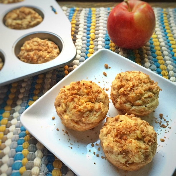 Gluten Free Apple and Oat Muffins by Katie Cavuto, MS, RD, Chef of Nourish. Breathe. Thrive