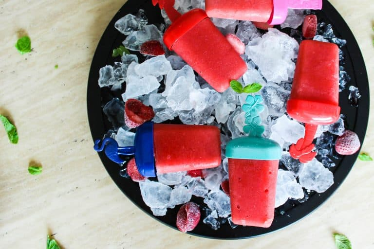 watermelon strawberry ice lollies