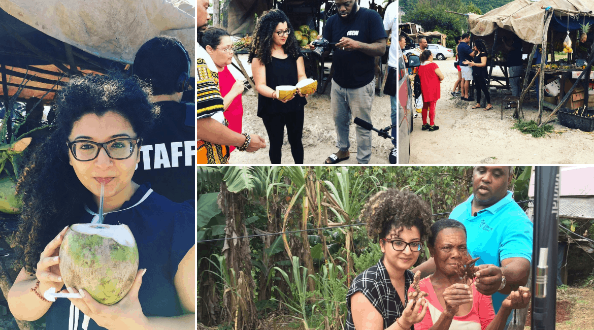 Collection of pictures of Desi~licious RD, Shahzadi Devje helping people with diabetes in Jamaica.