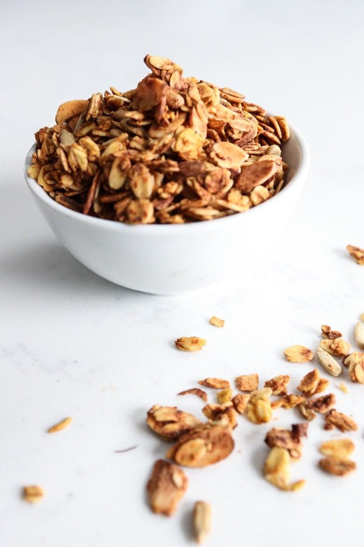 bowl of pumpkin granola