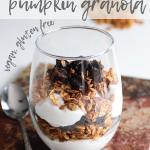homemade granola parfait layered with yoghurt and dried prunes