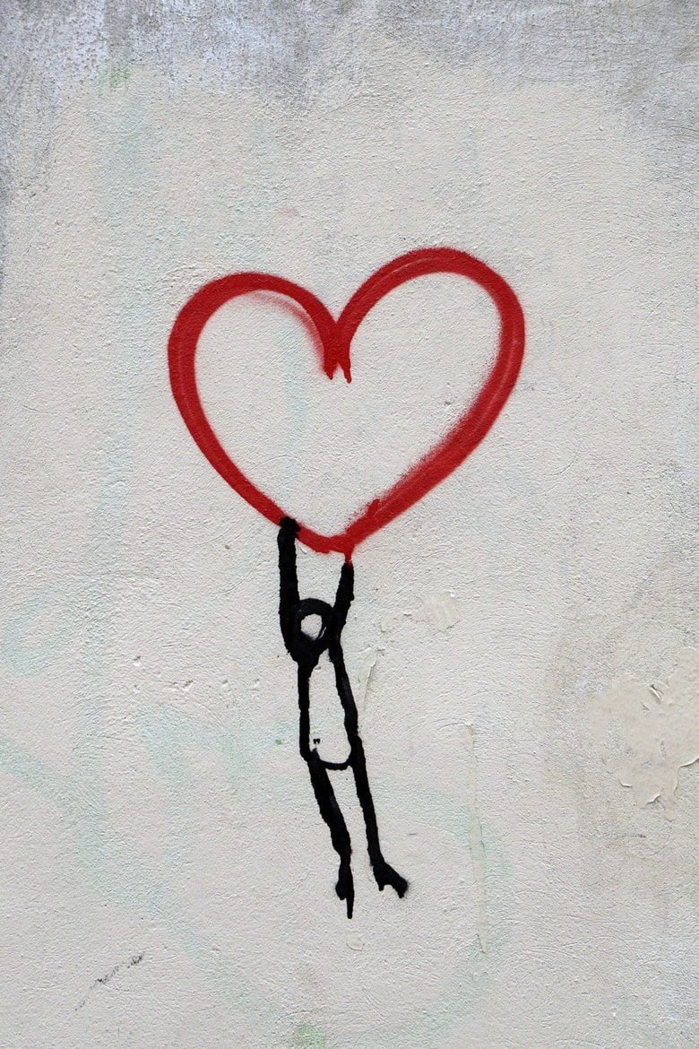 For Bell Let's Talk, an illustration of a stick person holding a red heart