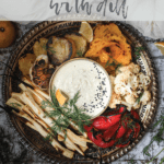 bowl of desilicious chutney recipe surrounded by roasted vegetables