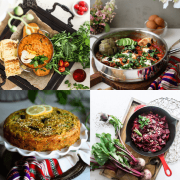 healthy Ramadan 2021 recipes round up. Four images showing Indian food