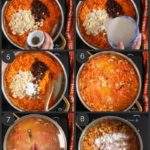 step by step images (10) of how to make carrot halwa in a pan