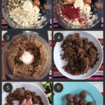step by step preparation images of how to make homemade no cook dried fruit and nut laddu recipe in a food processor