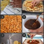 step by step preparation images of how to make homemade masala oven baked french fries