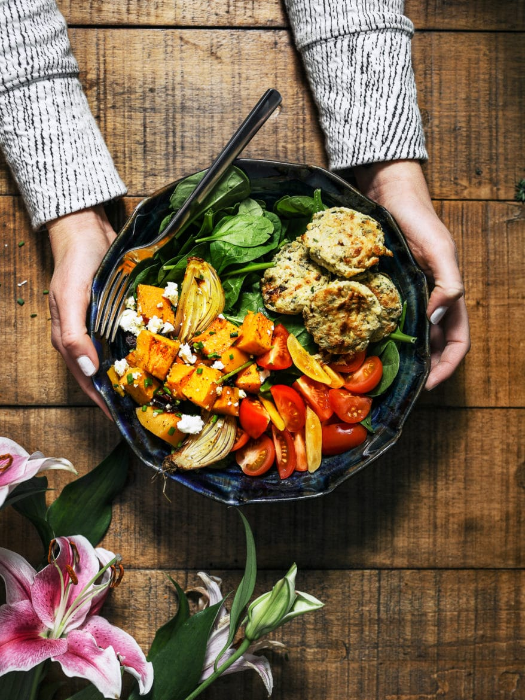 Vegan Thanksgiving baked butternut squash recipe